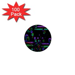 Digital Painting Colorful Colors Light 1  Mini Buttons (100 Pack)
