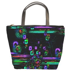 Digital Painting Colorful Colors Light Bucket Bags