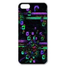 Digital Painting Colorful Colors Light Apple Seamless Iphone 5 Case (clear)