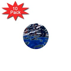 Colorful Reflections In Water 1  Mini Magnet (10 Pack)  by Simbadda