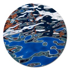 Colorful Reflections In Water Magnet 5  (round)