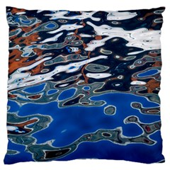 Colorful Reflections In Water Large Flano Cushion Case (two Sides) by Simbadda