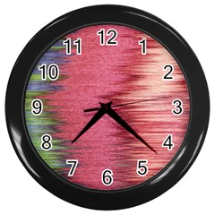 Rectangle Abstract Background In Pink Hues Wall Clocks (black) by Simbadda