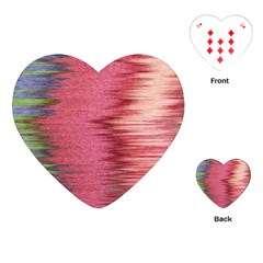Rectangle Abstract Background In Pink Hues Playing Cards (heart)  by Simbadda