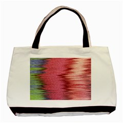 Rectangle Abstract Background In Pink Hues Basic Tote Bag (two Sides) by Simbadda