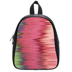 Rectangle Abstract Background In Pink Hues School Bags (small)  by Simbadda