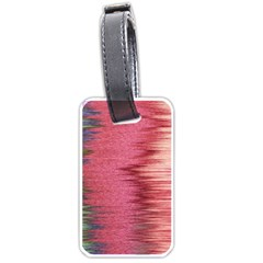 Rectangle Abstract Background In Pink Hues Luggage Tags (one Side)  by Simbadda