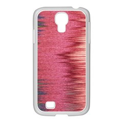 Rectangle Abstract Background In Pink Hues Samsung Galaxy S4 I9500/ I9505 Case (white) by Simbadda