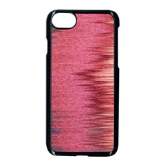 Rectangle Abstract Background In Pink Hues Apple Iphone 7 Seamless Case (black) by Simbadda