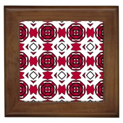 Seamless Abstract Pattern With Red Elements Background Framed Tiles by Simbadda
