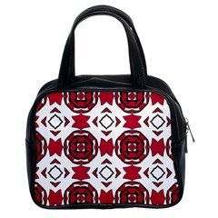 Seamless Abstract Pattern With Red Elements Background Classic Handbags (2 Sides) by Simbadda