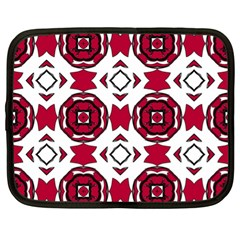 Seamless Abstract Pattern With Red Elements Background Netbook Case (xl)  by Simbadda