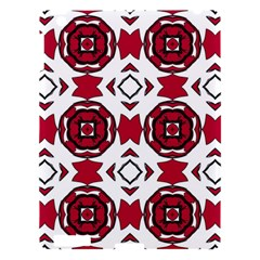 Seamless Abstract Pattern With Red Elements Background Apple Ipad 3/4 Hardshell Case by Simbadda