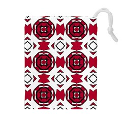 Seamless Abstract Pattern With Red Elements Background Drawstring Pouches (extra Large)
