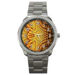 Patterned Wallpapers Sport Metal Watch by Simbadda