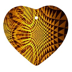 Patterned Wallpapers Heart Ornament (two Sides) by Simbadda