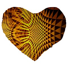 Patterned Wallpapers Large 19  Premium Heart Shape Cushions by Simbadda