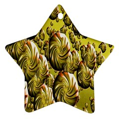 Melting Gold Drops Brighten Version Abstract Pattern Revised Edition Ornament (star) by Simbadda