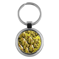 Melting Gold Drops Brighten Version Abstract Pattern Revised Edition Key Chains (round)  by Simbadda