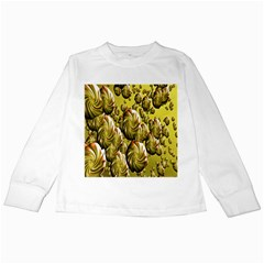 Melting Gold Drops Brighten Version Abstract Pattern Revised Edition Kids Long Sleeve T-shirts by Simbadda