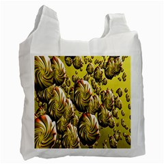Melting Gold Drops Brighten Version Abstract Pattern Revised Edition Recycle Bag (one Side) by Simbadda
