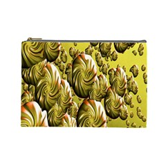Melting Gold Drops Brighten Version Abstract Pattern Revised Edition Cosmetic Bag (large)  by Simbadda