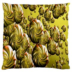 Melting Gold Drops Brighten Version Abstract Pattern Revised Edition Large Cushion Case (one Side) by Simbadda