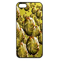 Melting Gold Drops Brighten Version Abstract Pattern Revised Edition Apple Iphone 5 Seamless Case (black)