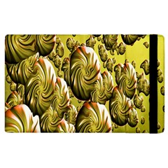 Melting Gold Drops Brighten Version Abstract Pattern Revised Edition Apple Ipad 3/4 Flip Case by Simbadda