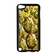 Melting Gold Drops Brighten Version Abstract Pattern Revised Edition Apple Ipod Touch 5 Case (black) by Simbadda