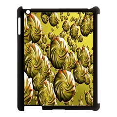 Melting Gold Drops Brighten Version Abstract Pattern Revised Edition Apple Ipad 3/4 Case (black) by Simbadda