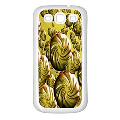 Melting Gold Drops Brighten Version Abstract Pattern Revised Edition Samsung Galaxy S3 Back Case (white)