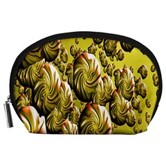 Melting Gold Drops Brighten Version Abstract Pattern Revised Edition Accessory Pouches (large)  by Simbadda