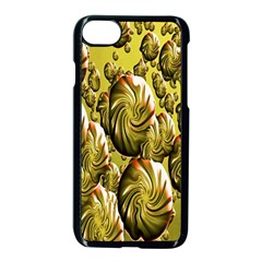 Melting Gold Drops Brighten Version Abstract Pattern Revised Edition Apple Iphone 7 Seamless Case (black) by Simbadda