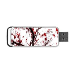 Tree Art Artistic Abstract Background Portable Usb Flash (two Sides)