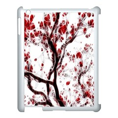 Tree Art Artistic Abstract Background Apple Ipad 3/4 Case (white) by Simbadda