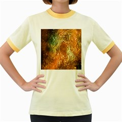Light Effect Abstract Background Wallpaper Women s Fitted Ringer T Shirts by Simbadda