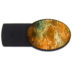 Light Effect Abstract Background Wallpaper Usb Flash Drive Oval (2 Gb) by Simbadda