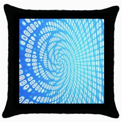 Abstract Pattern Neon Glow Background Throw Pillow Case (black) by Simbadda