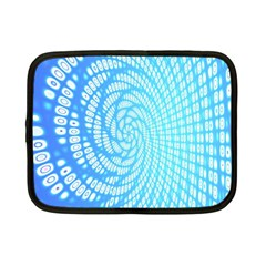 Abstract Pattern Neon Glow Background Netbook Case (small)  by Simbadda