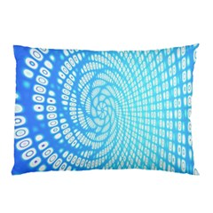 Abstract Pattern Neon Glow Background Pillow Case by Simbadda
