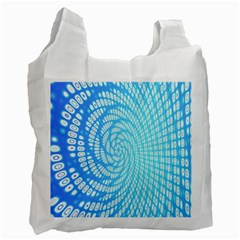 Abstract Pattern Neon Glow Background Recycle Bag (two Side)