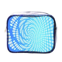 Abstract Pattern Neon Glow Background Mini Toiletries Bags by Simbadda