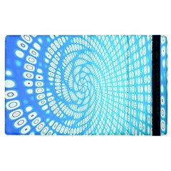 Abstract Pattern Neon Glow Background Apple Ipad 2 Flip Case by Simbadda