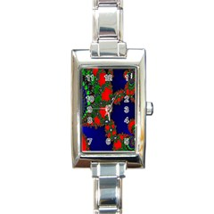 Recurring Circles In Shape Of Amphitheatre Rectangle Italian Charm Watch by Simbadda