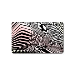 Abstract Fauna Pattern When Zebra And Giraffe Melt Together Magnet (name Card) by Simbadda