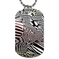 Abstract Fauna Pattern When Zebra And Giraffe Melt Together Dog Tag (one Side)