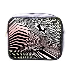 Abstract Fauna Pattern When Zebra And Giraffe Melt Together Mini Toiletries Bags by Simbadda