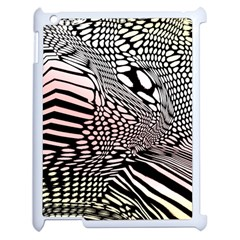 Abstract Fauna Pattern When Zebra And Giraffe Melt Together Apple Ipad 2 Case (white) by Simbadda