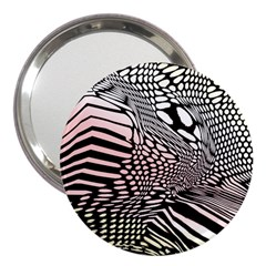 Abstract Fauna Pattern When Zebra And Giraffe Melt Together 3  Handbag Mirrors